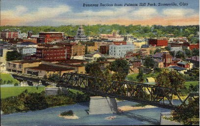 Putnam Hill Park - Zanesville, Ohio OH Postcard