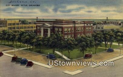City Square - Altus, Oklahoma OK Postcard
