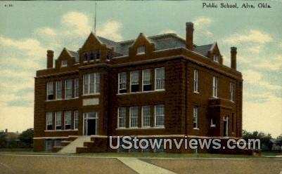 Public School - Alva, Oklahoma OK Postcard