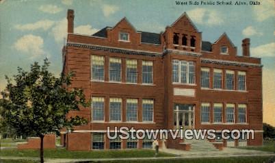 West Side Public School - Alva, Oklahoma OK Postcard