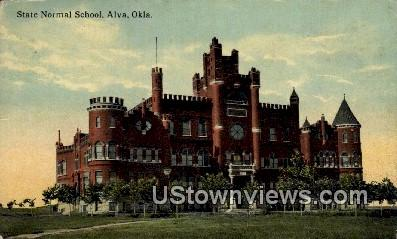State Normal School - Alva, Oklahoma OK Postcard