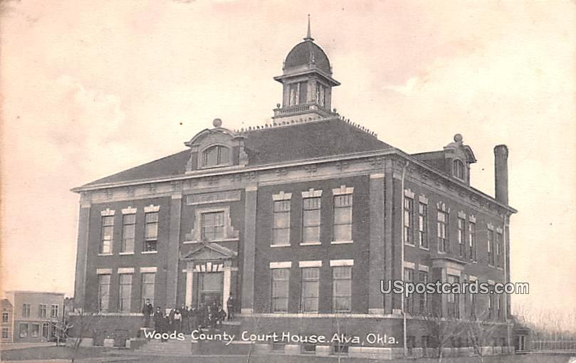 Woods County Court House - Alva, Oklahoma OK Postcard