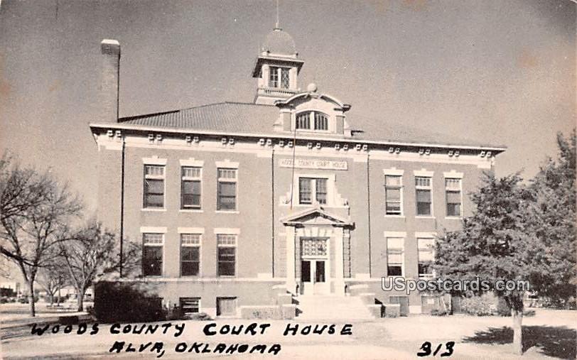 Woodes County Court House - Alva, Oklahoma OK Postcard