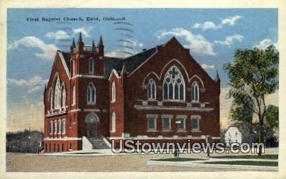 First Baptist Church - Enid, Oklahoma OK Postcard
