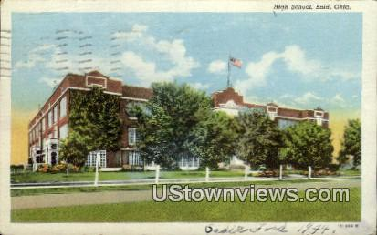 High School - Enid, Oklahoma OK Postcard