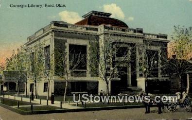 Carnegie Library - Enid, Oklahoma OK Postcard