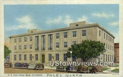 U. S. Post Office - Enid, Oklahoma OK Postcard