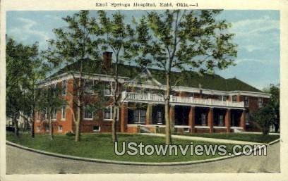 Enid Springs Hospital - Oklahoma OK Postcard