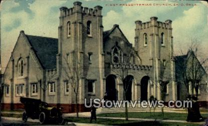 First Presbyterian Church - Enid, Oklahoma OK Postcard