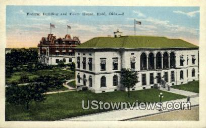 Federal Building and Court House - Enid, Oklahoma OK Postcard