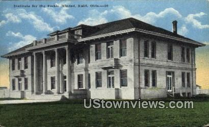 Institute for the Feeble Minded - Enid, Oklahoma OK Postcard
