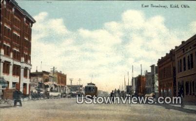 East Broadway - Enid, Oklahoma OK Postcard