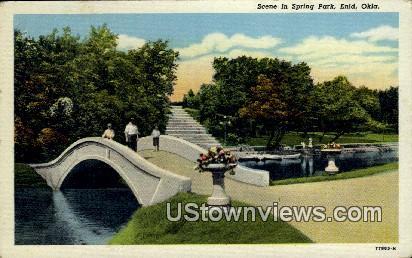 Spring Park - Enid, Oklahoma OK Postcard