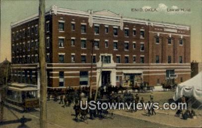 Lowen Hotel - Enid, Oklahoma OK Postcard