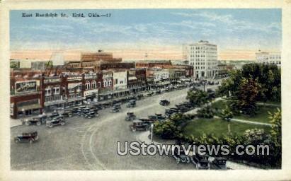 East Randolph St. - Enid, Oklahoma OK Postcard