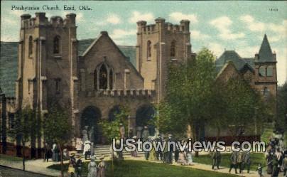 Presbyterian Church - Enid, Oklahoma OK Postcard