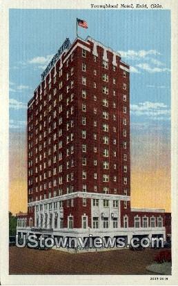 Youngblood Hotel - Enid, Oklahoma OK Postcard