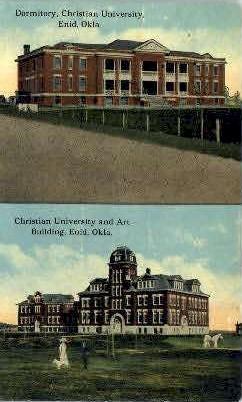 Christian University, Art Building - Enid, Oklahoma OK Postcard