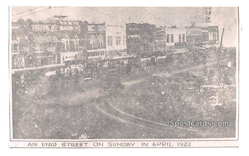 Enid Street - Oklahoma OK Postcard
