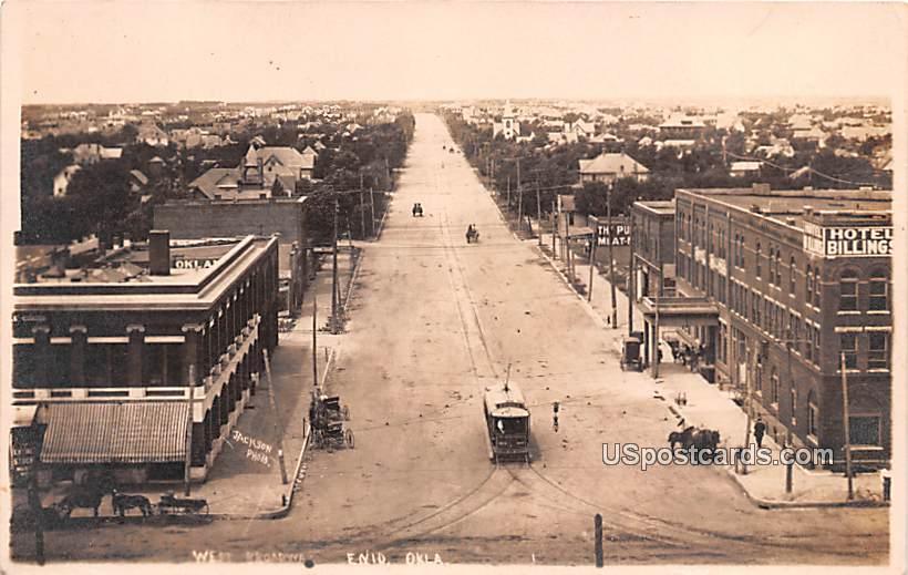 West Broadway - Enid, Oklahoma OK Postcard