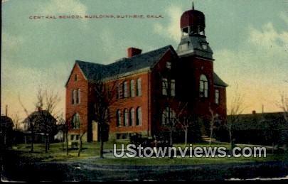 Central School Building - Guthrie, Oklahoma OK Postcard
