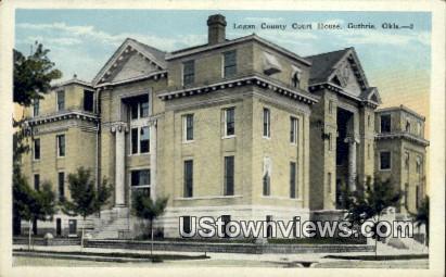 Logan County Court House - Guthrie, Oklahoma OK Postcard