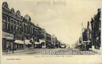 Oklahoma Ave. - Guthrie Postcard