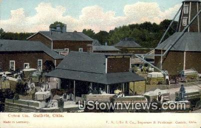 Cotton Gin - Guthrie, Oklahoma OK Postcard