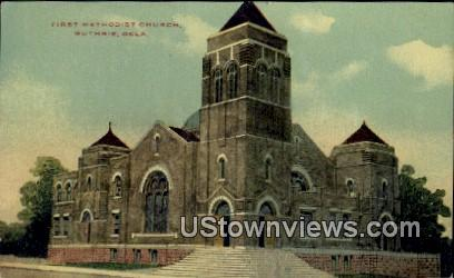 First Methodist Church - Guthrie, Oklahoma OK Postcard