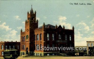 City Hall - Guthrie, Oklahoma OK Postcard