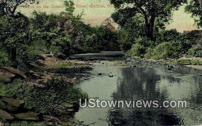 Cottonwood River - Guthrie, Oklahoma OK Postcard