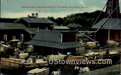 Houghton and Douglass Cotton Gin - Guthrie, Oklahoma OK Postcard