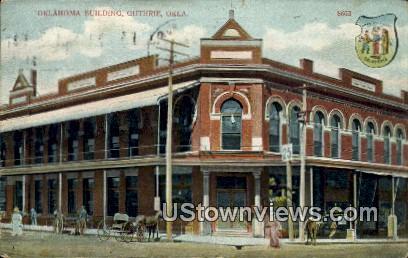 Oklahoma Building - Guthrie Postcard