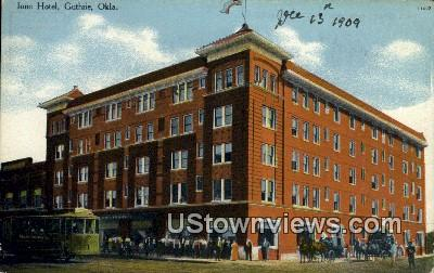 Ione Hotel - Guthrie, Oklahoma OK Postcard