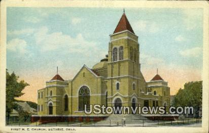 First M. E. Church - Guthrie, Oklahoma OK Postcard