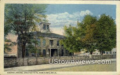 Council House - Okmulgee, Oklahoma OK Postcard