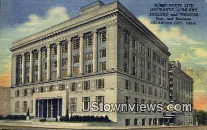 Home State Life Insurance - Oklahoma City Postcards, Oklahoma OK Postcard