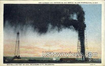 200 Million Feet Of Gas - Oklahoma City Postcards, Oklahoma OK Postcard
