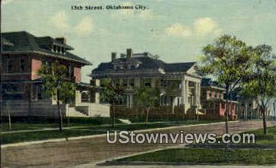 15th Street  - Oklahoma City Postcards, Oklahoma OK Postcard