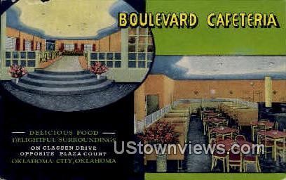 Boulevard Cafeteria - Oklahoma City Postcards, Oklahoma OK Postcard