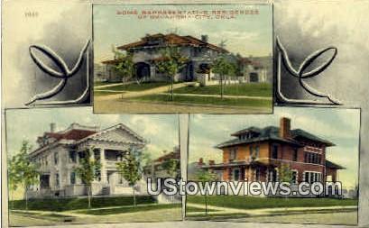 Representative Residences  - Oklahoma City Postcards, Oklahoma OK Postcard