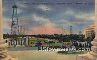 Capitol Grounds - Oklahoma City Postcards, Oklahoma OK Postcard