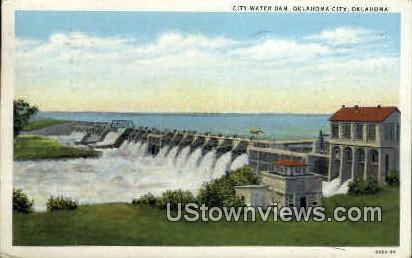 City Water Dam - Oklahoma City Postcards, Oklahoma OK Postcard