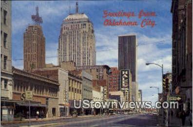 Greetings From - Oklahoma City Postcards, Oklahoma OK Postcard