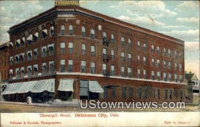 Threadgill Hotel - Oklahoma City Postcards, Oklahoma OK Postcard