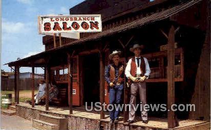 Longbranch Saloon - Oklahoma City Postcards, Oklahoma OK Postcard