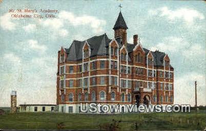 Mount St. Mary's Academy - Oklahoma City Postcards, Oklahoma OK Postcard