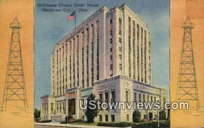 Oklahoma County Court House - Oklahoma City Postcards Postcard