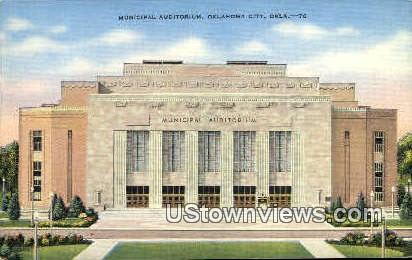 Municipal Auditorium - Oklahoma City Postcards, Oklahoma OK Postcard