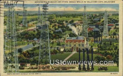 Governer's Mansion - Oklahoma City Postcards, Oklahoma OK Postcard